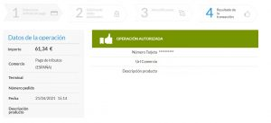 Captura de pantalla Redsys_Pasarela de pago